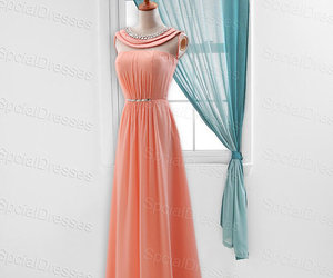 girl, prom dresses, and beaded dresses image