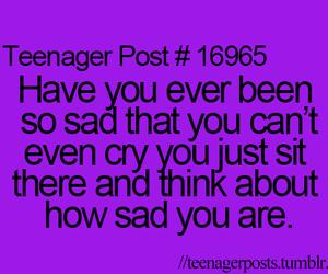 sad, cry, and teenager post image
