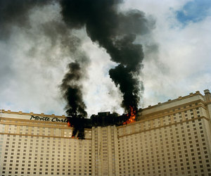 fire, monte carlo, and building image