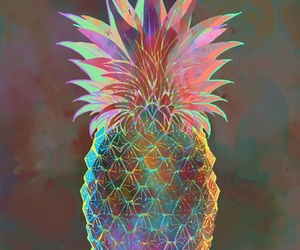 pineapple, art, and abstract image