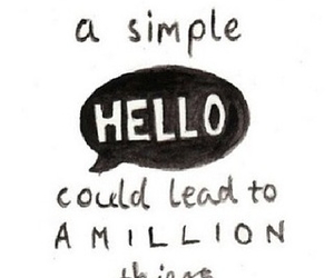 hello, quote, and love image