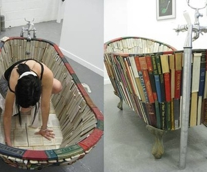 books, water, and cool image