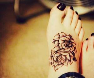 rose. tattoo black image