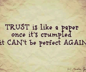 trust, quote, and Paper image