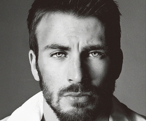 chris evans, black and white, and sexy image