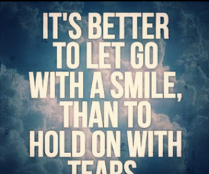 hold on, tears, and smile image