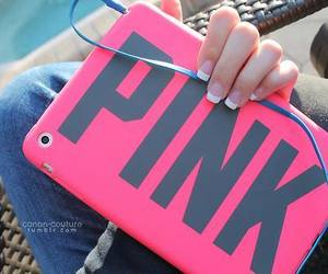 pink, ipad, and nails image