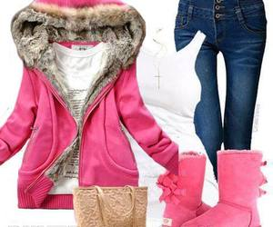 pink, bag, and jeans image