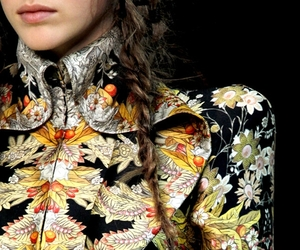 Alexander McQueen, fashion, and flowers image