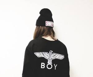 girl, obey, and boy image