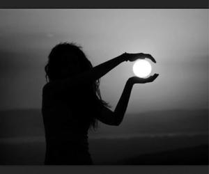 girl and moon image