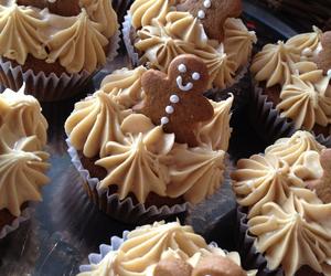 food, christmas, and cupcake image