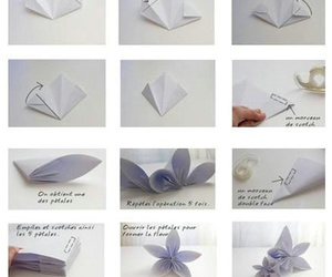 flower, origami, and Paper image
