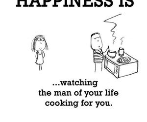 love, happiness, and cooking image