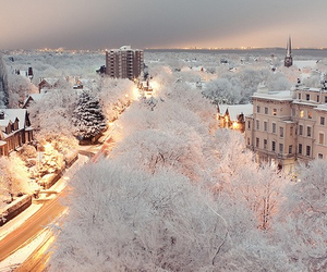 beautiful, snow, and city image
