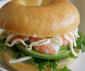 avocado, burger, and hamburger image