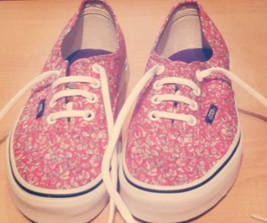 pink, vans, and off the wall image
