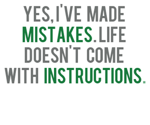 instructions, mistakes, and life image