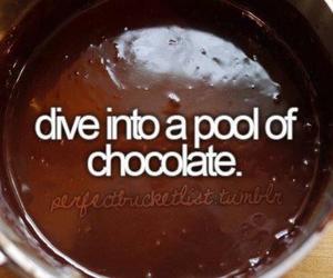 chocolate, before i die, and food image