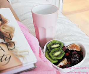 pink, fruit, and girl image