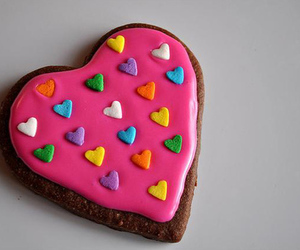 food, heart, and pink image