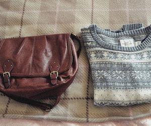 bag, sweater, and fashion image