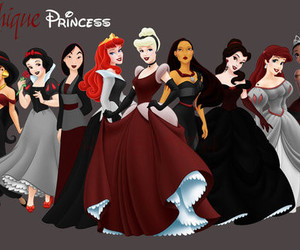 disney, princess, and gothic image