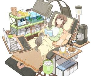 anime, cat, and life image