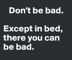 bad, bed, and quote image