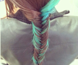 and, blue, and dip dye image