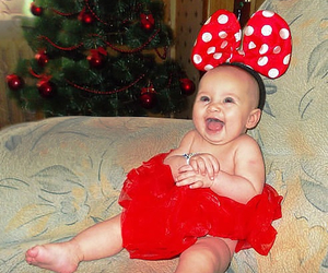 baby, mouse, and red image