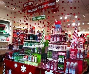 beauty, christmas, and bath and body works image