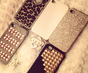 cases, glitter, and iphone image