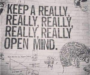 quote, mind, and open mind image