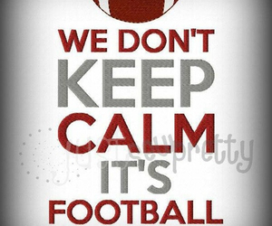 football, keep calm, and NFL image
