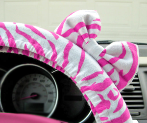 bow, pink, and car image