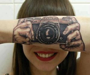 girl, smile, and camera image