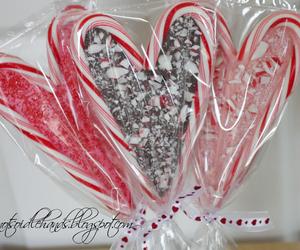 candy cane, chocolate, and christmas image