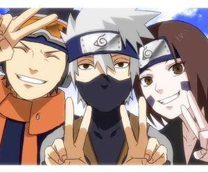 rin, obito, and kakashi image