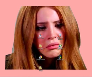 lana del rey, pale, and crying image
