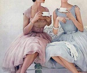 vintage, tea, and dress image