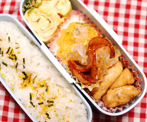 bento, rice, and food image
