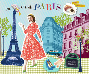 fashion, vintage, and eifel tower image