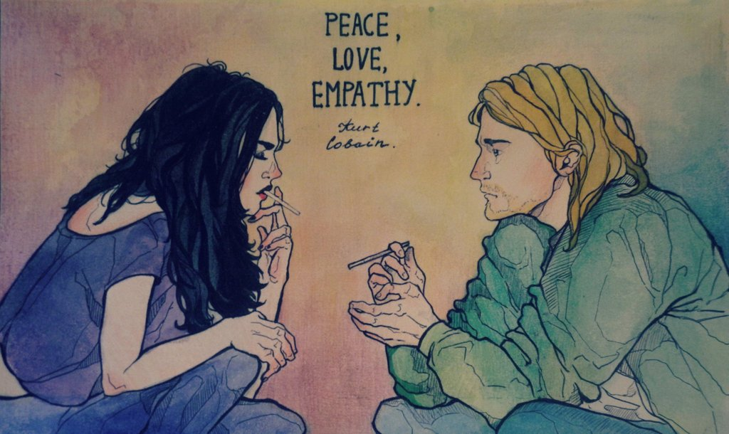 peace, love, empathy by Lumi7 on We Heart It