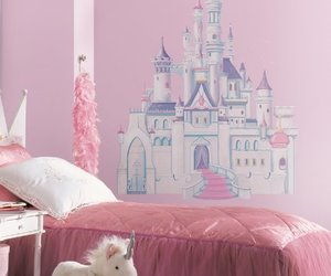 castle, pink, and room image