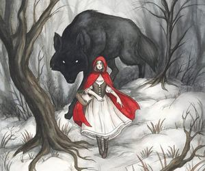 red and wolf image