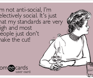 anti-social, funny, and quote image