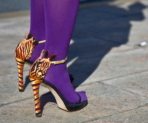 heels, shoes, and purple image