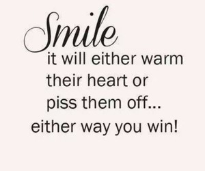 smile, quote, and win image