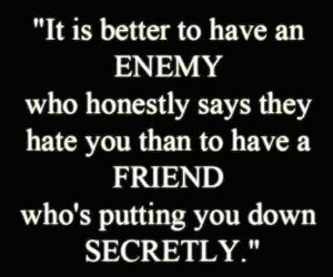 enemy, friends, and quote image